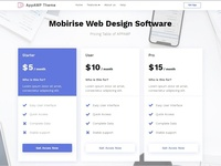 Mobirise Web Design Software - Pricing Table of APPAMP