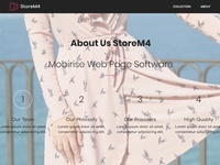 Mobirise Web Page Software - About Us StoreM4