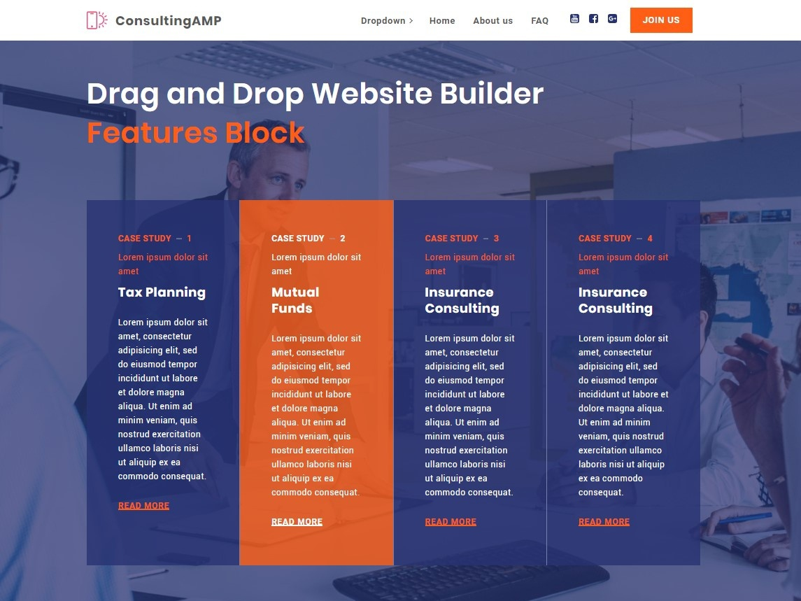 Drag And Drop Website Builder Features Block By Mobirise Builder On Dribbble