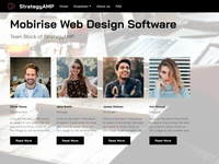 Mobirise Web Design Software -  Team Block of StrategyAMP