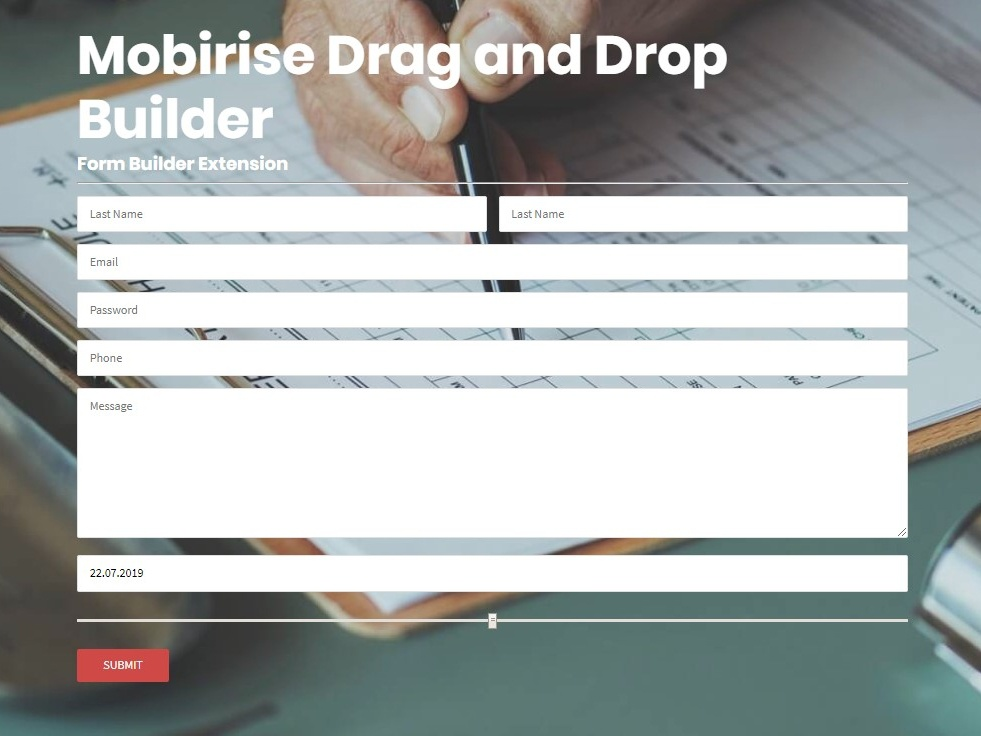 Mobirise Drag and Drop Builder - Form Builder Extension by Mobirise
