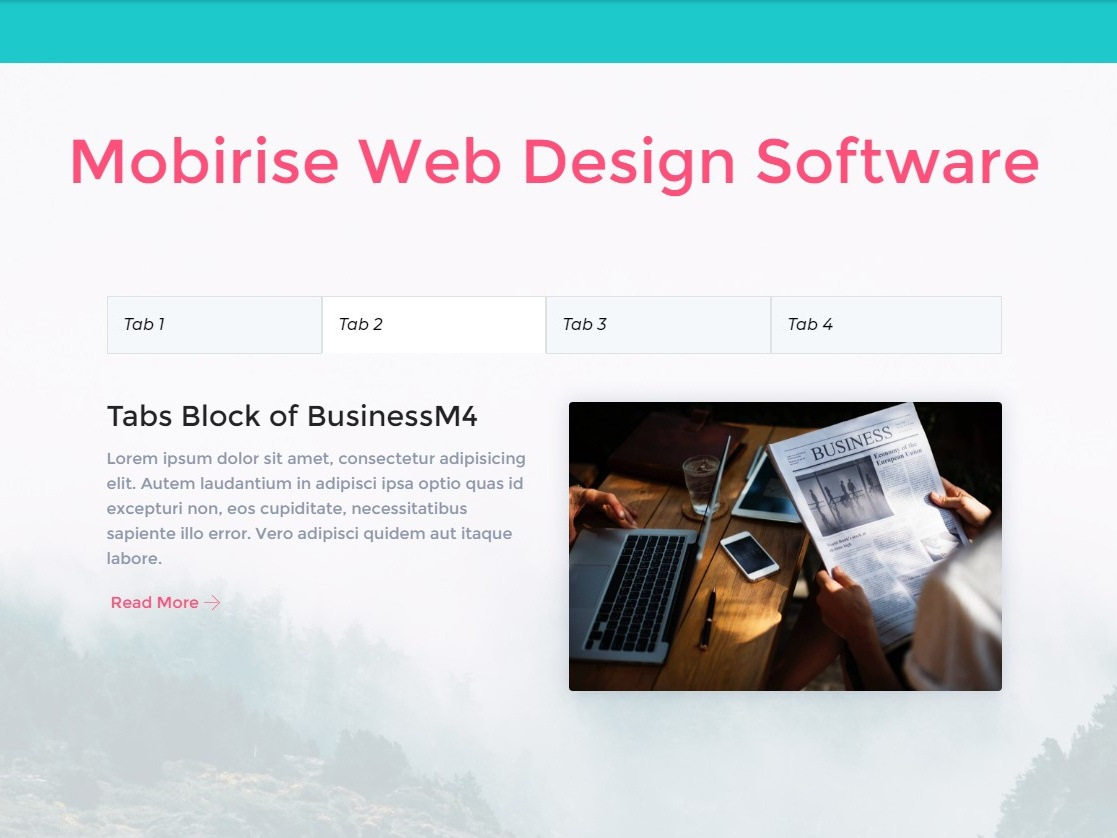 Mobirise Web Design Software Tabs Block Of Businessm4 By Mobirise Builder On Dribbble