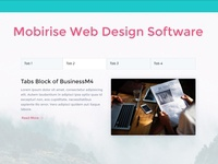 Mobirise Web Design Software - Tabs Block of BusinessM4