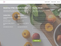Mobirise HTML Website Builder -  Forms Block OrganicAMP