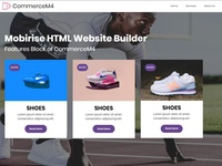 Mobirise HTML Website Builder -  Features Block of CommerceM4