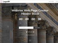 Mobirise Web Page Creator - Header Block of LawyerM4