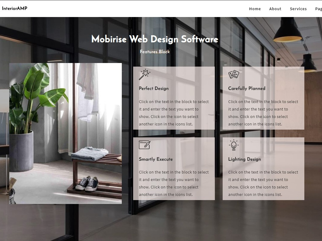 Mobirise Web Design Software Features Block Of Interioramp By Mobirise Builder On Dribbble