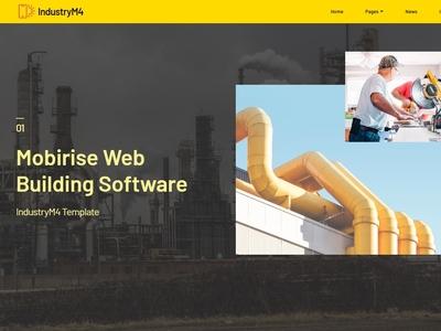 Mobirise Web Building Software -  IndustryM4 Template