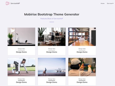Mobirise Bootstrap Theme Generator - Features Block