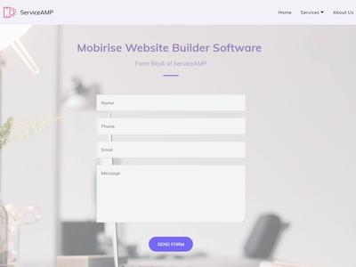 Mobirise Website Builder Software -  Form Block of ServiceAMP