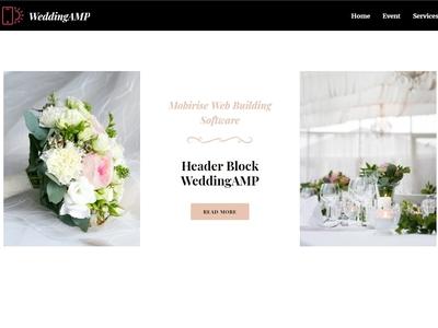 Mobirise Web Building Software -  Header Block WeddingAMP