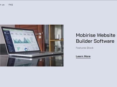 Mobirise Website Builder Software -  Features Block