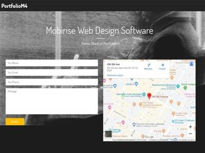 Mobirise Web Design Software -  Forms Block of PortfolioM4