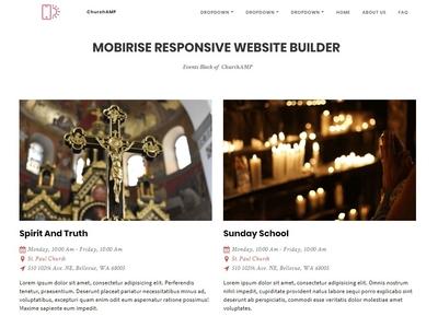 Mobirise Responsive Website Builder -  Events Block