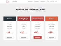 Mobirise Webdesign Software -  Pricing Tables of ChurchAMP