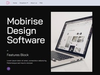 Mobirise Design Software - Features Block Strategy Template
