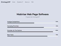 Mobirise Web Page Software -  Progress Bar StrategyAMP