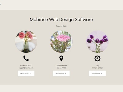 Mobirise Web Design Software -  Features Block ResumeAMP