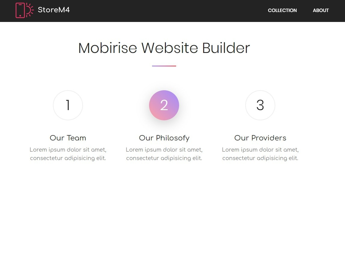 Mobirise Website Builder - Features Block StoreM4 by