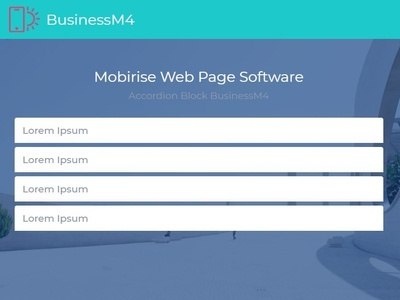 Mobirise Web Page Software —  Accordion Block BusinessM4