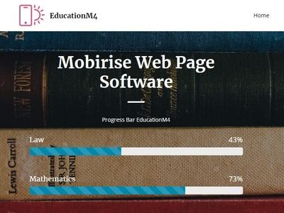 Mobirise Web Page Software —  Progress Bar EducationM4