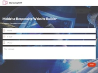 Mobirise Responsive Website Builder —  Contacts Form WorkshopAMP