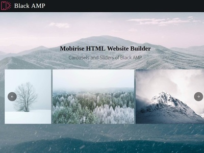 Mobirise HTML Website Builder  —  Carousels and Sliders