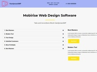Mobirise Web Design Software — Tabs and Accordions Block