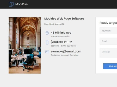 Mobirise Web Page Software —  Form Block AgencyM4