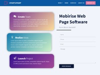 Mobirise Web Page Software — Form Block StartupAMP