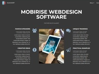 Mobirise Webdesign Software — Features BLOCK EventAMP