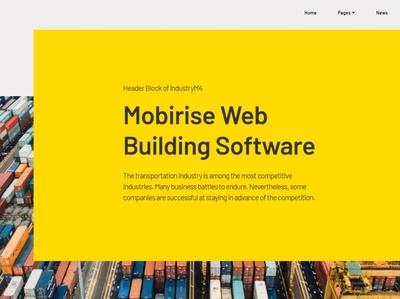 Mobirise Web Building Software —  Header Block of IndustryM4