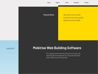 Mobirise Web Building Software —  Features Block