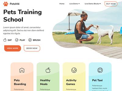 Mobirise Web Builder | Pets Training School software mobirise website maker webdevelopment website builder website design responsive webdesign bootstrap