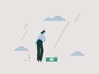 Rain animation character design female illustrator design character illustration vector simple