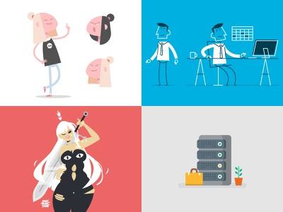 2018 illustrator character design vector illustration design character simple