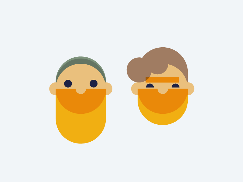 The boys beard face guys boys icons character design illustrator design character illustration flat icon vector simple