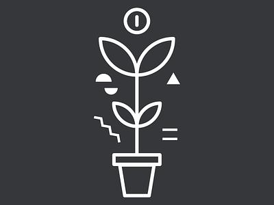 004 Leaf plant leaf icons illustrator design outline illustration icon vector simple