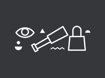 003 Discover telescope outline icons illustrator design illustration flat icon vector simple
