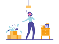 The old exploding pile of money. motion graphics 2d animation animation storyboard character design female illustrator design character illustration vector simple