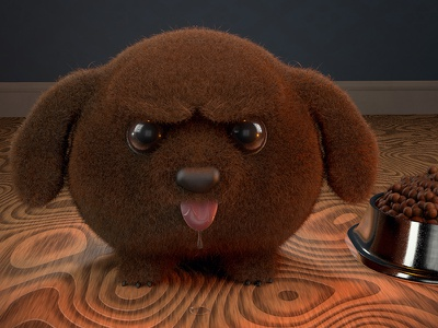 Angry Dog render 3d puppy dog c4d