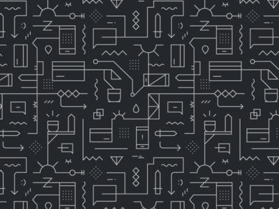 Geometric icon pattern
