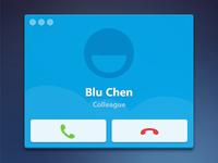 Skype Call UI