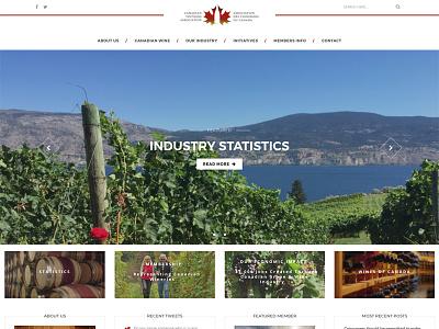 Canadian Vintners Association custom theme custom web design wordpress