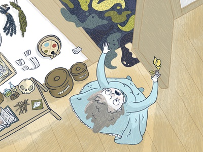 Howl's Moving Castle 1 book illustration kid lit art cartoon comic line art illustration