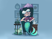 Mermaid Granny and her Cat-Fish