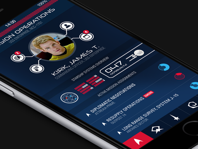 Starship Operations star trek dashboard ios ux ui