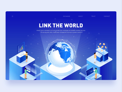 2.5d illustration for inVault — Link the World