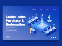2.5d illustration for inVault — Stable-coins Purchase