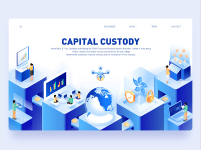 2.5d illustration for inVault — Capital Custody